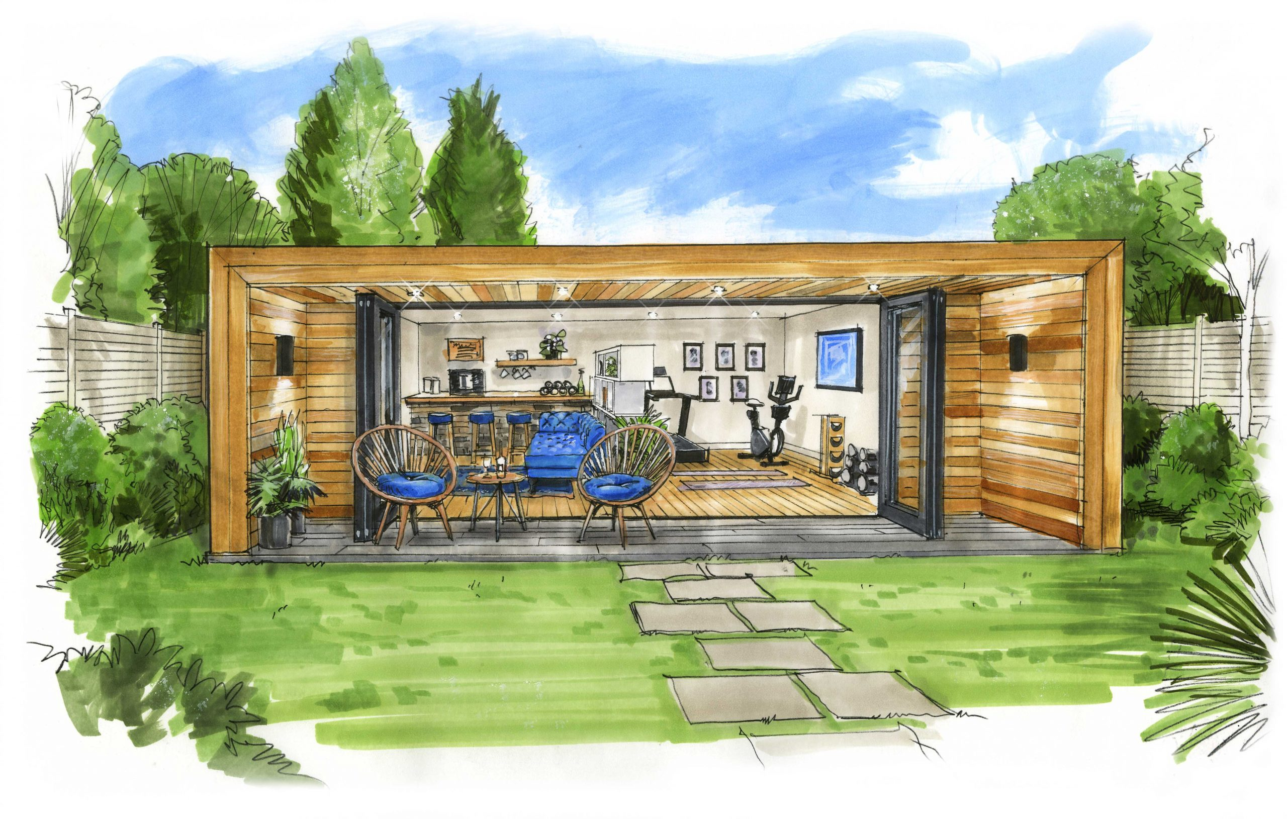 The Twilight - Garden room sketch