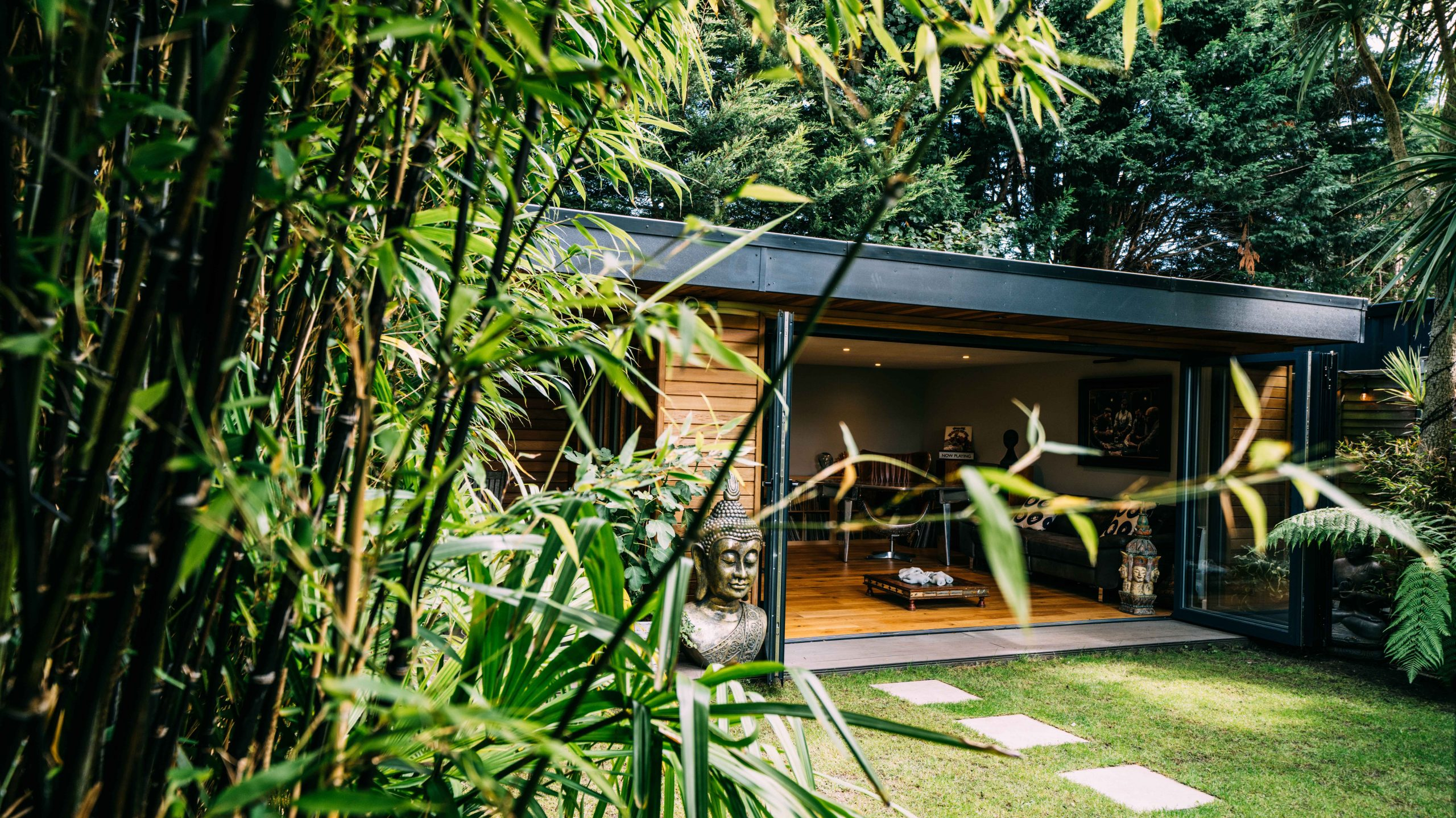 Into The Garden Room - Buddha - Sunset